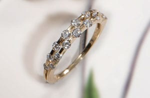 From the Enchanted Garden Collection: Fleur Ring in 18ct Gold and Diamonds