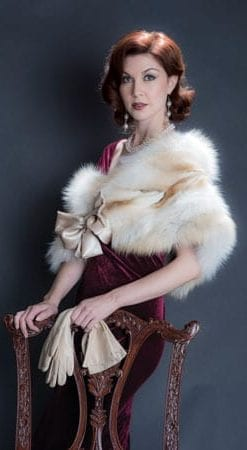 The New Fur Collection: Sumptuous creamy golden fox fur stole