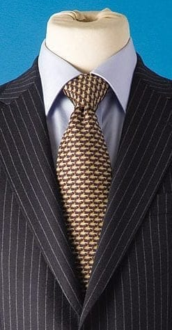 Smart silk swimming fish tie on navy