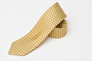 The gentleman's tie, naturally elegant: pure silk Fox Mask by Bryn Parry for Fox & Chave