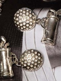 Sterling silver Golf Clubs cufflinks