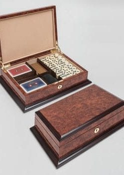 Exquisite, figured makah burl wood Games Compendium by Hillwood