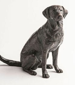 Limited edition bronze Gun Dog by Michael Simpson