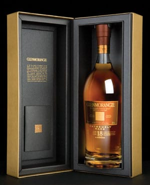 Gold Medal winning Glenmorangie 18yo single malt whisky
