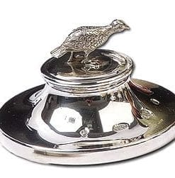 Fine English sterling silver grouse paperweight