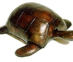 Handcrafted leather Galapagos Turtle by Omersa: Large