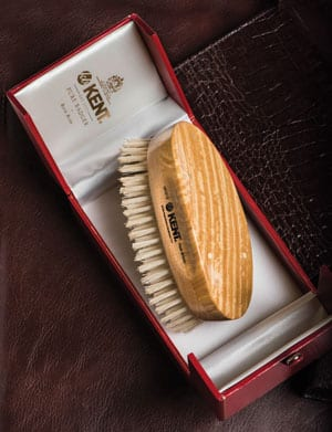 The Kent handmade military hairbrush: acknowledged as the world's ultimate brush