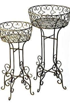 Stylish cast-iron flower baskets by Chelsea medallists