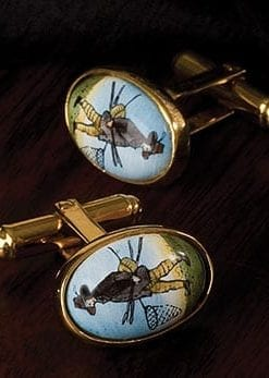 Izaak Walton cufflinks by Halcyon Days
