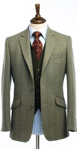 Beautifully tailored new 600g tweed jacket, save £138
