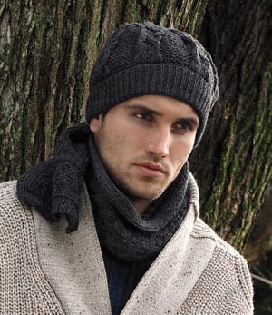 Cosy and warm pure Merino wool hat and scarf set from Ireland, £39
