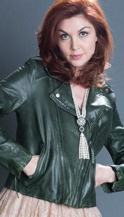 The Leather Bomber: super-soft Jemima in racing green leather