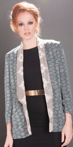 Gorgeous, elegant new jacket in Japanese Starburst from the Blue For You Collection by Nancy Mac