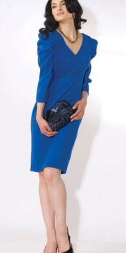 The stylish designer dress, by Eve Pollard: The Royal Blue