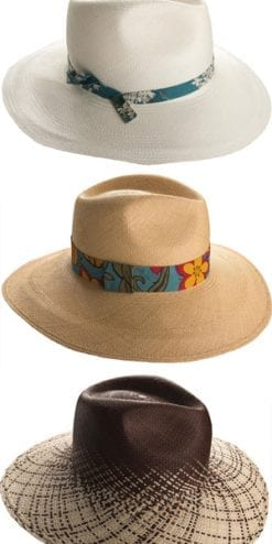Panama hats à la mode by Christys' & Co, the world's oldest milliner