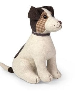 Jack Russell on active service! Dora Designs doorstop: a friend in waiting