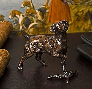 Limited edition bronze Jack Russell terrier