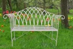 Elegant King's Garden Bench in cream, by Chelsea medallists Ascalon Design