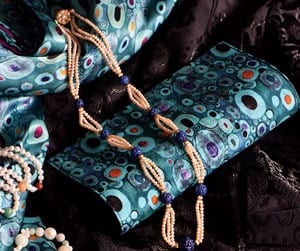 Silk Art: Gustav Klimt luxurious pure silk Hope Clutch