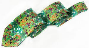 The most expensive tie in town! Klimt 'Flower Garden' in pure silk
