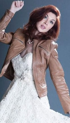 The Leather Bomber: super-soft Lottie in caramel leather