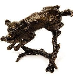 Bronze Labrador by wildlife sculptor Michael Simpson