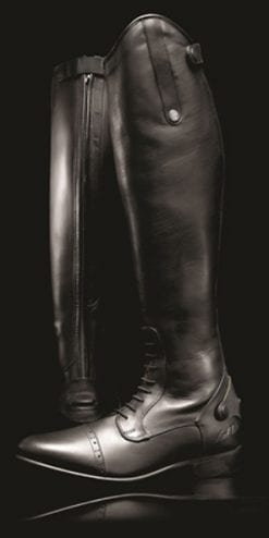 Long leather competition field boots by Mark Todd, a snip at £139