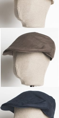 The Rolls-Royce of flat caps for summer: the Balmoral linen cap by Christys' & Co