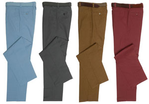 Tailored pure cotton chinos from English tailors Gurteen