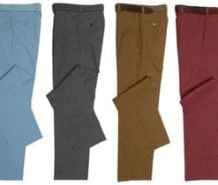 Tailored premium cotton chinos by Gurteen: 2 pairs, save £51
