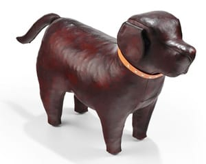 Leather Labrador Footstool by Omersa: Medium