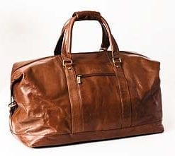 Large Italian vegetable dyed leather holdall