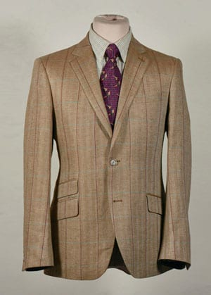 Smart new linen herringbone jacket by our English tailors for country style: a snip at £97