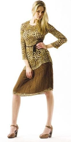Crinkled tunic skirt from the Travel Collection