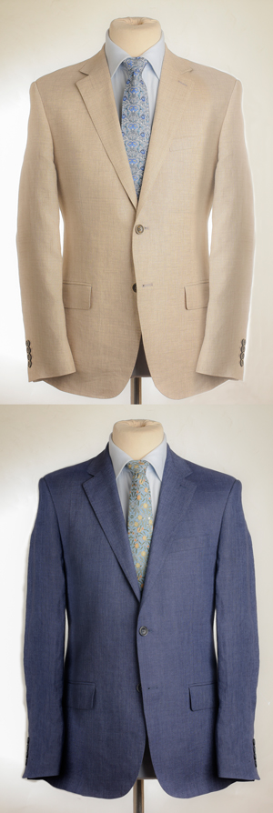 Well-cut new linen suit by English tailors: a snip at £137