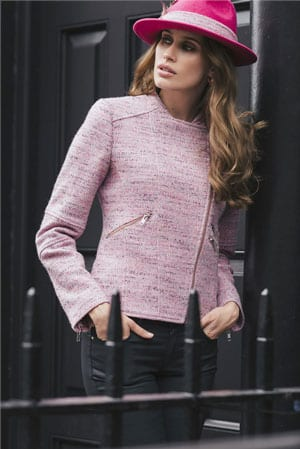 Believe in pink: the new cropped designer jacket