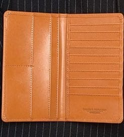 Long wallet in English bridle leather