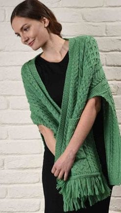 Wool Power: Step into the season's Aran knits: Fashion-forward shrug-shawl for layering chic