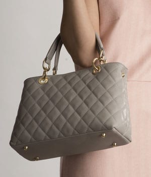 Luxurious Italian quilted leather Montecatini bag