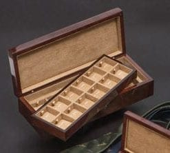 Fine camphor burl veneer cufflinks box by Hillwood: a work of art: 24 cufflink box