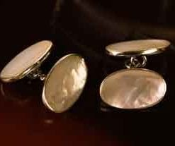 New sterling silver and mother-of-pearl cufflinks, only £29