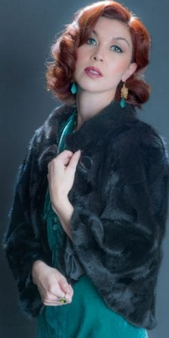 The New Fur Collection: ravishing silky mink cape