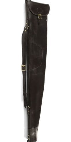 Best English leather double gunslips by Croots: the Malton