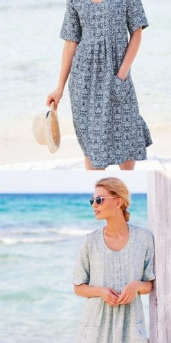 Adini Malaysia Island Dress in pure linen
