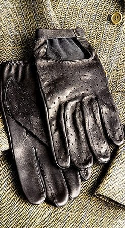 English-made capeskin men's driving gloves