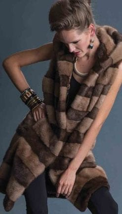 Haute Collection: Opulent Fur: Luxuriously soft designer mink hooded gilet