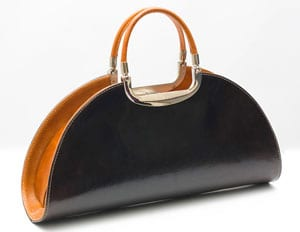 Stunning and original Italian leather Macchiato handbag