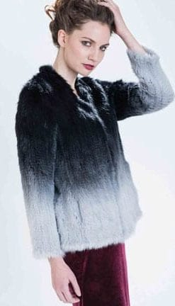 Haute Collection: Opulent Fur: Effortless style in the knitted mink jacket in black and grey