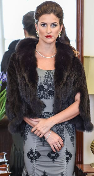 The New Fur Collection: Gorgeous mink cape with raccoon fur trim
