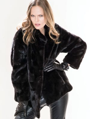 The luxury of a mink jacket